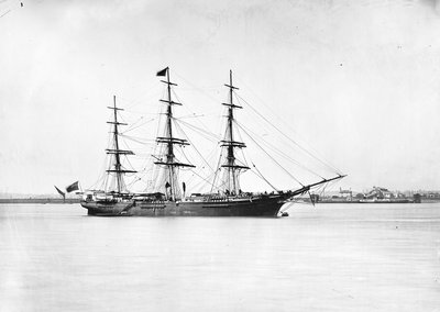 3-masted ship 'Light Brigade' (Br, 1854) by unknown - print