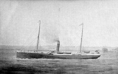 'Marmion' cargo steamer, short sea, copy of a painting by unknown - print