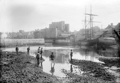 Harbour and Castle Rushen, Castletown, Isle of Man by National Maritime Museum - print