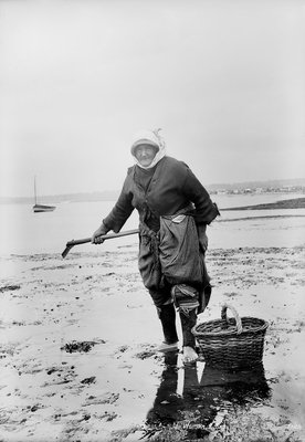 Cockle Woman, Exmouth, Devon by National Maritime Museum - print
