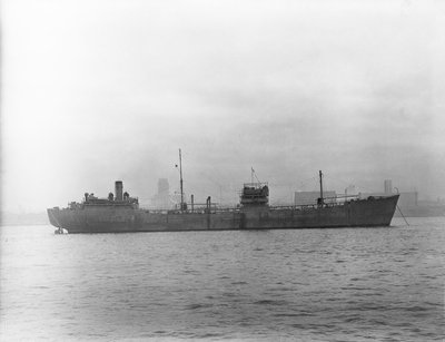 'Empire Silver' (Br, 1941) tanker, at anchor in the River Mersey by Anonymous - print