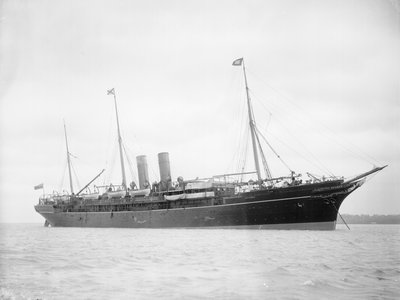 Passenger liner 'Atrato' (Br, 1888) at anchor by unknown - print