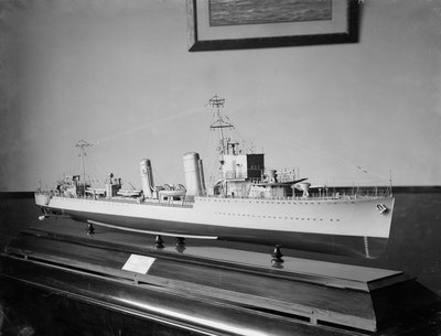 Builder's model of HMS 'Amazon' circa 1926 by unknown - print