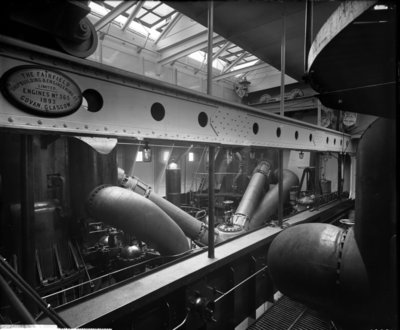 Engine Room on the 'Lucania' (1893) by Bedford Lemere & Co. - print