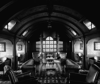 First Class Smoking Room on the 'Balmoral Castle' (1910) by Bedford Lemere & Co. - print