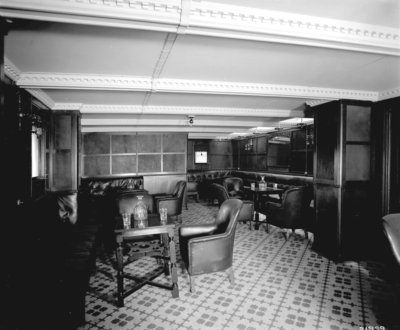 Second Class Smoking Room on the 'Indarra' (1912) by Bedford Lemere & Co. - print