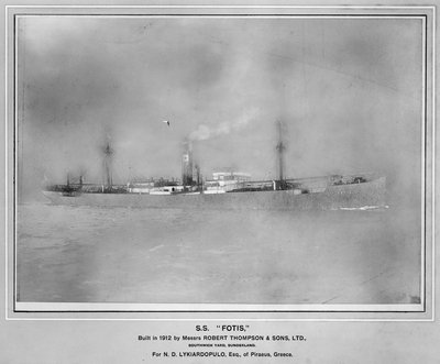The 'Fotis' (Gr, 1912) under way by unknown - print