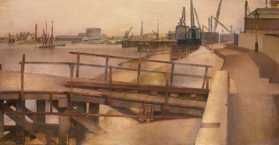A Jetty at Greenwich by Jesse Dale Cast - print