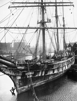 'Ferreira' in the Albion Dock, Surrey Commercial Docks, London by unknown - print