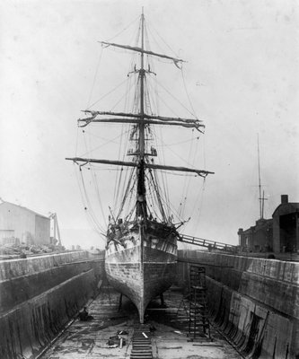 The 'Ferreira' in the New Lower Union Dry Dock, Limehouse by unknown - print
