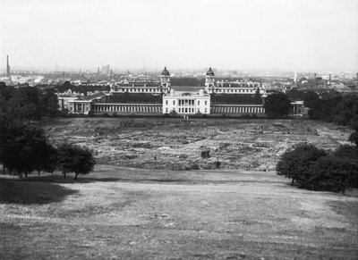 Allotments in Greenwich Park during the Second World War by unknown - print
