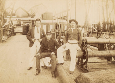 Deck of 'Cutty Sark' (1869) under Captain Woodget by unknown - print