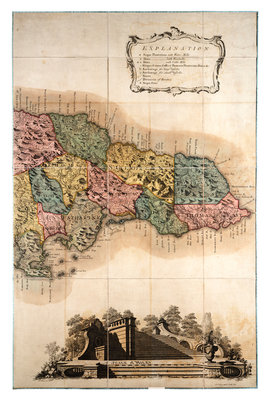Map of Jamaica by unknown - print