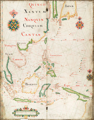 Map of the East Indies, 1665 by Nicholas Comberford - print
