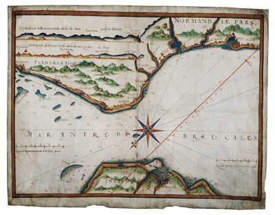 Chart of Dover Strait by Luis Teixeira - print