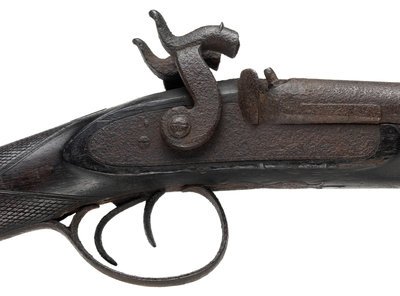 Pair of shotguns taken on the Franklin expedition, 1845-47 by unknown - print