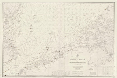 Chart of area from Dover and Calais to Orfordness by unknown - print