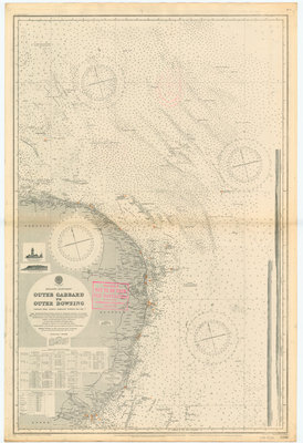 England-East Coast. Outer Gabbard to Outer Dowsing by British Admiralty - print