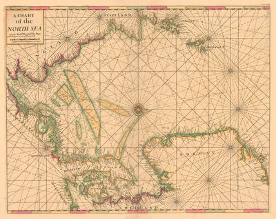 Chart of the North Sea: Norway to the Dover Straits by Mount & Page - print