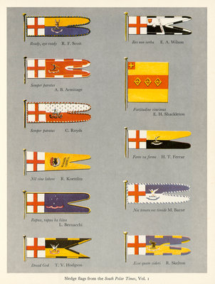 Sledge flags from the 'South Polar Times' volume 1 by unknown - print