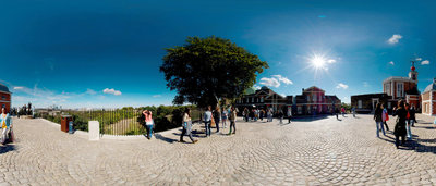 Panoramic courtyard view of the Royal Observatory, Greenwich by National Maritime Museum Photo Studio - print