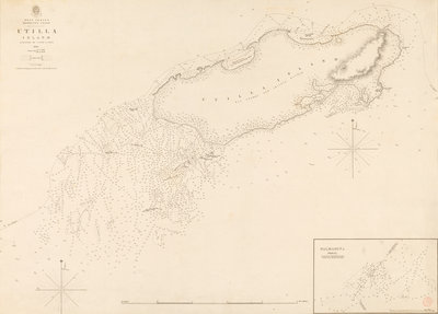 West Indies Mosquito Coast Utilla Island surveyed by Commander R. Owen 1835 by British Admiralty - print