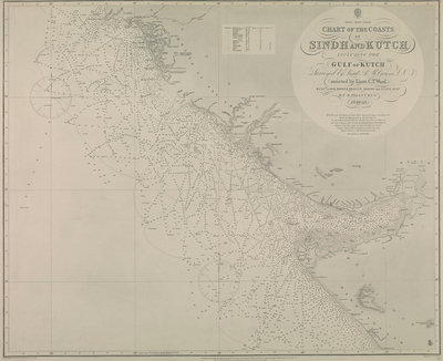 Chart of Sindh and Kutch coasts by British Admiralty - print