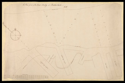 A plan of the Port of the River Bowley at Bucklers Hard, Hants by unknown - print