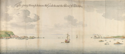 'The goeing through betweene the Gasketts and the Island of Alderny by Thomas Phillips - print