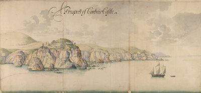 A prospect of Corbiere Castle by Thomas Phillips - print