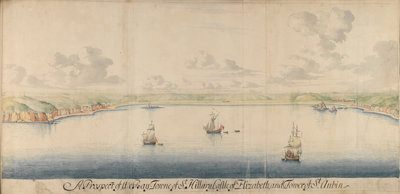 The Legge Report, 'Bay Towne of St Hilary - Castle Elizabeth' by Thomas Phillips - print