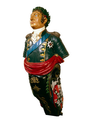 Figurehead from HMS 'Blenheim' by unknown - print