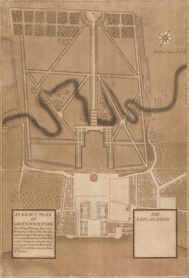 An Exact Plan of Greenwich Park by Henry Wise - print