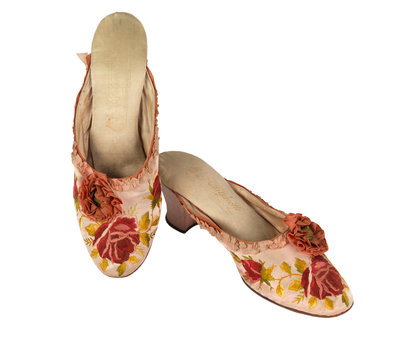Silk slippers by unknown - print