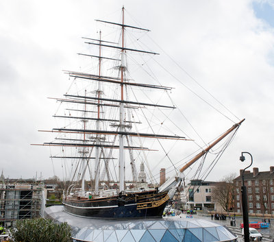 Refurbished clipper 'Cutty Sark' (1869), re-opened 25 April 2012 by Royal Museums Greenwich Photo Studio - print