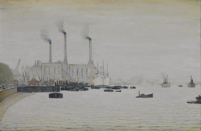 View of Deptford Power Station from Greenwich by Laurence Stephen Lowry - print