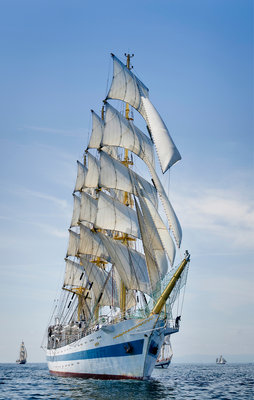 Russian full rigged ship 'Mir' at Waterford Tall Ships Race 2011 by Richard Sibley - print