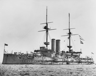Battleship HMS 'Goliath' (1898) by unknown - print