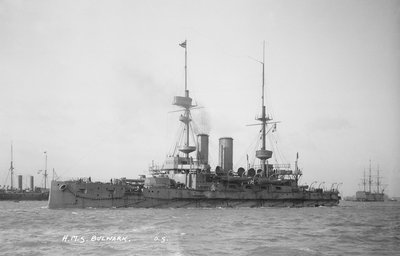 Battleship HMS 'Bulwark' (1899) by unknown - print