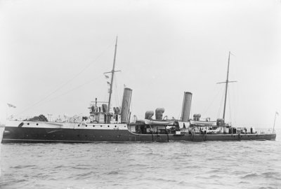 Photograph of torpedo gunboat 'Leda' (1892) by unknown - print