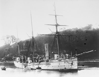 Composite screw gunboat HMS 'Pigeon' (1888) by unknown - print