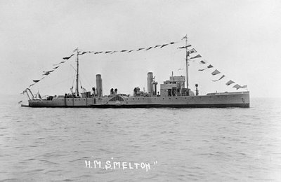 Photograph of the paddle minesweeper HMS 'Melton' 1924, Richard Perkins Collection by unknown - print