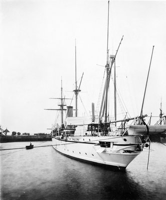 HMS 'Espiegle' (1900) by unknown - print
