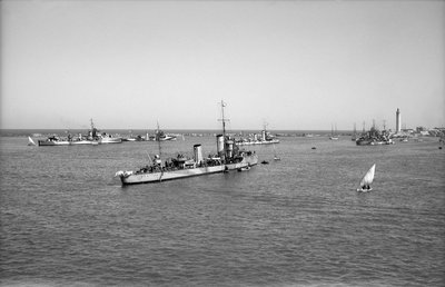 'Ierax' (1911) moored in Alexandria harbour by unknown - print