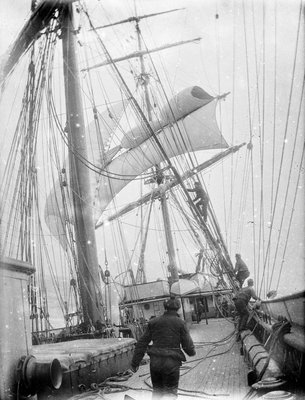 On deck of the 'Iquique' (1892) by unknown - print