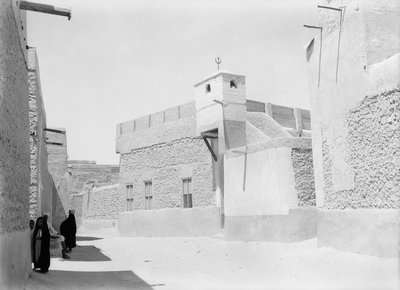 Street and mosque, Kuwait by Alan Villiers - print