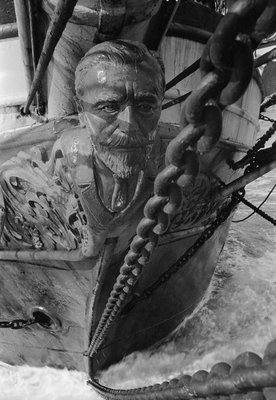 Figurehead of the 'Joseph Conrad' by Alan Villiers - print