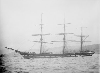 'Cathcart' (Br, 1869) at anchor by unknown - print