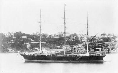 'Miltiades' (Br, 1871) at anchor by unknown - print