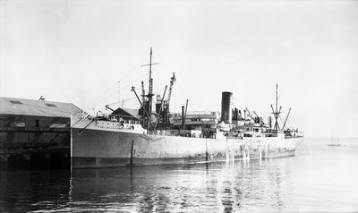 'Port Melbourne' (Br, 1914) at quayside by Anonymous - print